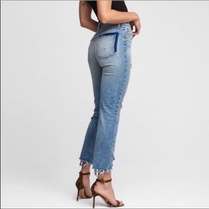 Hudson Jeans High Rise Zooey Distressed Straight